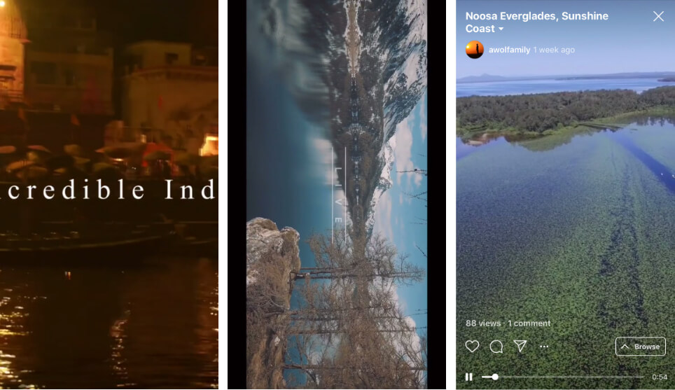 Instagram TV videos examples